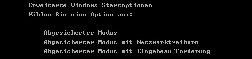 Bootmenü unter Windows XP