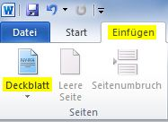 Word 2010 Deckblatt Erstellen Vorlagen Anleitung
