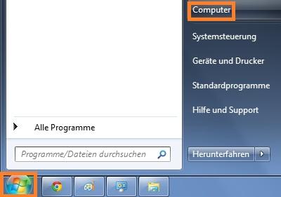 Windows 7: Dateiendungen anzeigen